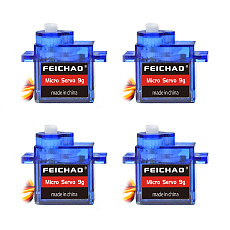 FEICHAO 4PCS FEICHAO Classic Servos 9g SG90 MG90S For RC Planes Fixed Wing Aircraft Model Telecontrol Aircraft Parts Toy Motors