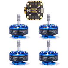 FEICHAO 45A BLheli_32 2-6S 4in1 Brushless ESC with 4PCS 2306-2450kv/2306-1700kv Motor for RC Quadcopter FPV Racing Drone