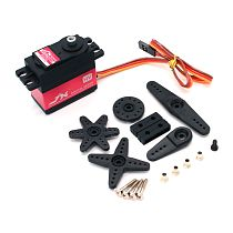 JX PDI-HV6210MG 11kg High Pressure Large Torque Metal Gear Digital Steering Gear Servo For RC Helicopter Drone Tank Car Robot Accessories