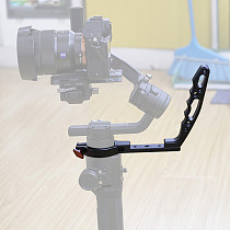FEICHAO Aluminum Alloy Handle Sling Grip Neck Ring Mounting Extension Arm Stabilizer Handle Bracket For DJI RoninS Zhiyun Crane2 SLR Cameras