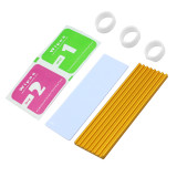 XT-XINTE Aluminum Cooling Heat Sink Thermal Pads Heat Dissipation Radiator Thickness 3mm 6mm for M.2 NGFF SATA PCI-E NVME m2 SSD Heatsink