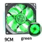 XT-XINTE Colorful 90mm fan Cooler Computer Fan LED Ultra Silent Computer PC Case Fan 12V 3 Pin Cooling Fans