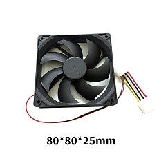 XT-XINTE Portable Cooling Cooler Fan DC12V 4Pin Computer CPU Heatsink Silent Cooling Case Fan 8cm 9cm 12cm