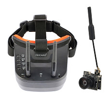 FEICHAO 5.8G 40CH Dual Antennas FPV Goggles Monitor Video Glasses Headset w/ 5.8G 25mW Video Transmitter Camera for Racing Drone