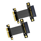 2pcs 5cm R22SF PCIe 3.0 x4 Male to Female Extension Cable PCI Express Gen3 Motherboard Graphics Extender Conversion Riser Card