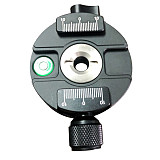 BGNing XPC-60C 360 Degree Panoramic Tripod Head Clamping For Arca Swiss Tripod Ball Head 38mm Quick Release Plate