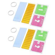 2/4/15PCS XT-XINTE M.2 NGFF 2280 PCI-E NVME SSD Aluminum Heat Sink Cooler Hard Drive Laptop Durable Universal Radiator Accessories