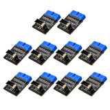 XT-XINTE 10pcs Type C USB3.1 Front Panel Socket USB 3.0 19 Pin to TYPE-E 20Pin Header Extension Adapter for ASUS Motherboard