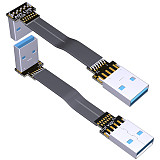 ADT-Link ADT USB3.0 Male to Male Famale to Famale Ultra thin and light through connection cable A Famale to A Male Double corner 10G/bps