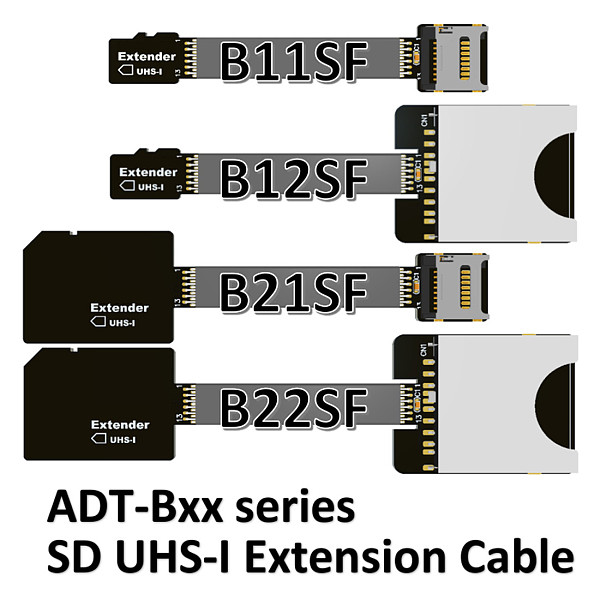 ADT-Link TF Extension cable Micro SD Extender Express Cord for SDHC UHS-I Stable No FPC Card Reading Test Line Up to 104MB/s