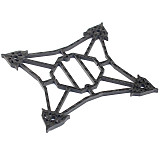FEICHAO Upgrade 3mm Bottom Plate 3K Carbon Fiber Frame for Larva X RC Drone for FPV Racing Cine BWhoop Toothpick Drone