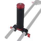 Camera Cage Handle Grip Mount Lifting Holder With 15mm Rail Dual Rod Clamp Mount 1/4 -20 Thread Knob Screw for 5D2 GH4 DSLR