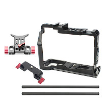 BGNing CNC Camera Cage for Fujifilm X-T3 /XT3 /XT2 /X-T2 SLR Photography Stabilizer Rig 15mm Rail Rod Clamp Follow Focus System Support