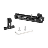 FEICHAO Top Handle Cheese Bracket for SLR Camera DSLR Cage Hand Grip w/ 15mm Rod Clamp Adapter Cold/Hot Shoe Mount 1/4  3/8  Hole