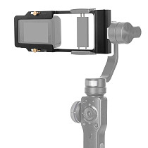 FEICHAO Aluminum Alloy Stabilizer Splint Bracket For Camera Mobile Phone Gimbal Stabilizer for GoPro8 GoProMAX GoPro all Series/AKASO EK7000 4K DJI Osmo EKEN Sports Cameras