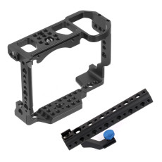 BGNing CNC Camera Cage Top Handle Grip for Nikon Z6 / Z7 Protective Housing Shell Mount w/ Cold Shoe Adapter DSLR Accessories