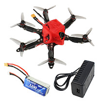 FEICHAO 175mm X6 Mini Airframe Six-Axis with Omni F4 Pro(V2) Flight Controller Built in OSD BEC MT1204-5000kv Motors 20A Brushless ESC 3016 3-Blade Propellers 1/1.8  1200TVL 2.1mm+ND filter FPV Camera with Receiver & Battery