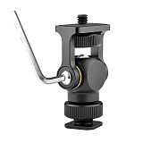 BGNING Universal Hot Shoe Gimbal Bracket Monitor Stabilizer Gimbal Bracket black / gray Suitable for SLR cameras