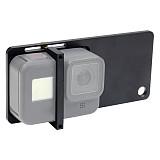 BGNING Aluminum alloy 4MM Splint Camera Stabilizer Bracket With Plastic Clips Screws For Gopro8 Gopro Series DJI Osmo EKEN Sports Camera Selfie Handle
