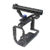 FEICHAO Aluminum Camera Cage for Blackmagic BMPCC 4K 6K Design Pocket Cinema Camera Full Frame with Rail Cold Shoe Mount Photography