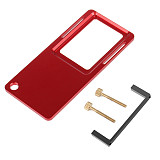 FEICHAO Aluminum Gimbal Switch Plate Adapter for DJI OSMO Action Tripod Mount Clip Clamp for GOPRO Hero 8 for EKEN Stabilizer