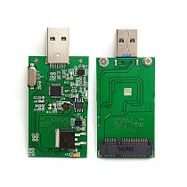 XT-XINTE MSATA to USB3.0 Solid-state Drive Conversion Card Without Shell MINI PCI-E SSD Hard Drive Adapter Card