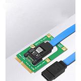 XT-XINTE mSATA to SATA Converter Card Mini SATA to 7-Pin SATA Extension Adapter Full-high Half-size for 2.5  3.5  HDD SSD with SATA Cable