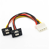 XT-XINTE 20cm SATA Adapter Power Cable IDE 4pin Female to SATA Female Power Connector Splitter SATA 90 Degree for Hard Drive SS