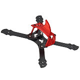 FEICHAO Owl215 Carbon Fiber Crossing Frame with 3D printed antenna mount camera stabilizer Cover for DIY FPV Racing Drone