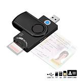 XT-XINTE USB 3.0 2.0 CAC Smart Card Reader Micro SD/TF Memory ID Bank EMV2 Electronic Citizen SIM Cloner Connector Adapter
