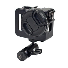 BGNing BGL-G8A CNC Metal Shell Protection Frame Dog Cage Buckle 1/4 Screw Hole Expansion Anti-Drop Wear-Resistant Expandable Anti-loosening Connecting Arm Compatible for Gopro8