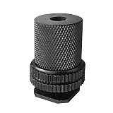 FEICHAO 1/4 '' Double Thumb Screw Flash Cold Shoe Camera Adapter Mount Tripod Mount Screw with 1/4 to 1/4 Nut for DSLR Camera