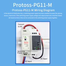 HF Protoss-PG11 RS485 to GPRS DTU 220V Wireless Serial Server with GSM / GPRS Rail Mounting Bracket and CMCC or CUCC SIM Card