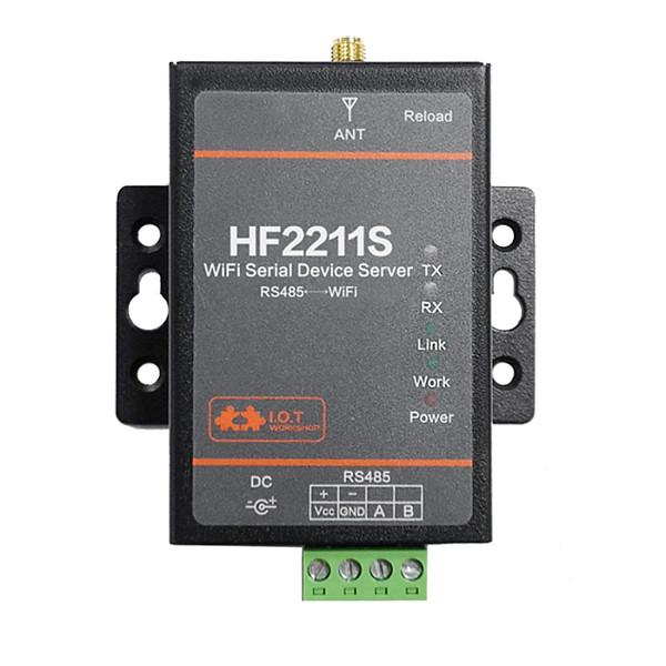 HF2211S Small Size Industrial Modbus Single Serial Port RS485 WiFi Converter TCP IP Telnet Modbus Flash 2M Serial
