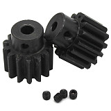 FEICHAO 2pcs Hole Diameter 6mm/8mm Steel Gear Modulus M2 14T Teeth Metal Connecting Pinion Mechanical Transmission Connector