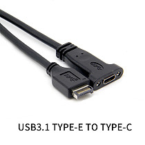 XT-XINTE USB 3.1 Front Panel Header Type E Male to Usb-C Type C Female Motherboard Expansion Cable Computer Connector 50cm
