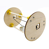 FEICHAO DIY Roller Assembly Model Toy Kit Wooden Elasticity Principle Physical Experiment Toy Technology Manual DIY Model Kit