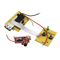 FEICHAO 2.4G Remote Controller kit Control Board Launcher Transmitter with Receiver Module for DIY Foam Airplane Model