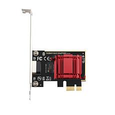 DIEWU TXA092 PCIE Card 2.5Gbps Gigabit Network Card 10/100/1000Mbps RTL8125b RJ45 Ethernet Network Card PCI-E Network Adapter