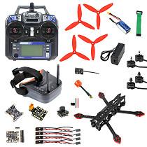 FEICHAO F4-X2 225mm FPV Antenna Carbon Fiber Frame 2204-2300KV 2-3S LOPO Motor BL32-35A 32bit ESC BLHeli_32 Betaflight OMNIBUS F4 Pro (V2) Flight Control 1200TVL 2.1mmPAL Camera For DIY Racing Drone Quadcopter