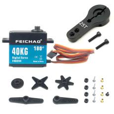 FEICHAO 40kg 180/270/360 Degree Waterproof High Torque Brushless Servo Metal Gear Digital Servo for Remote Car Boat Tank