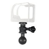BGNING 1  inch Tripod Ball Head Mount with Screw Adapter Wrench for Gopro 8 7 6 5 4 Session Eken SJcam yi for OSMO Action Sports Camera