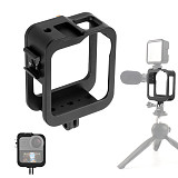 FEICHAO Aluminum CNC Protective Cover 360 VR Panoramic Camera Cage for Gopro Max Frame Removable Quick Release Case with Cold Shoe Mount