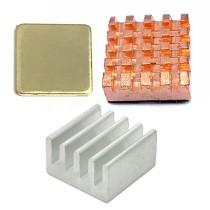 XT-XINTE 1Pack for Raspberry Pi 3 4 B Heat Sink Copper Aluminum Heatsink Radiator Cooler Kit for Raspberry Pi 3B+ Plus 2 4