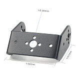 FEICHAO Double Axis Robot Servo Bracket Aluminum Steering Bearing Servo Multifunction U L For MG995/996/15kg 20kg Rc Toy Robot Part Accessory