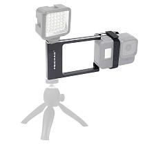 FEICHAO Aluminum Alloy Gimbal Stabilizer Splint Bracket with Nylon Velcro Ties Compatible for GoPro Series / EK7000 4K Sports Camera Mobile Phone
