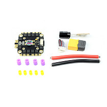HAKRC HK8B45 BLHeli-S 45A Brushless ESC 4in1 DShot600 20mm/30.5mm Double Mounting Hole for 2-6S DIY FPV Racing Drone Aircraft Quadcopter