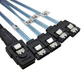 XT-XINTE Mini SAS 36P SFF-8087 Male to 4 SATA 7P Female Cable Splitter SAS TO SATA Cable Adapter 12Gbp Server Hard Disk Date Cable