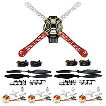 JMT F450 4-Axis Airframe 450mm Quadcopter Drone Frame Kit with 2-4S 30A RC Brushless ESC A2212 1000KV Brushless Motor 13T 1045 CW CCW Propellers