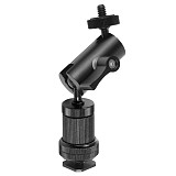 FEICHAO Aluminum Magic Arm 1/4  inch Screw Dual Ball Head Mount Adapter for Gopro Hero Sports Slr Cameras Monitor